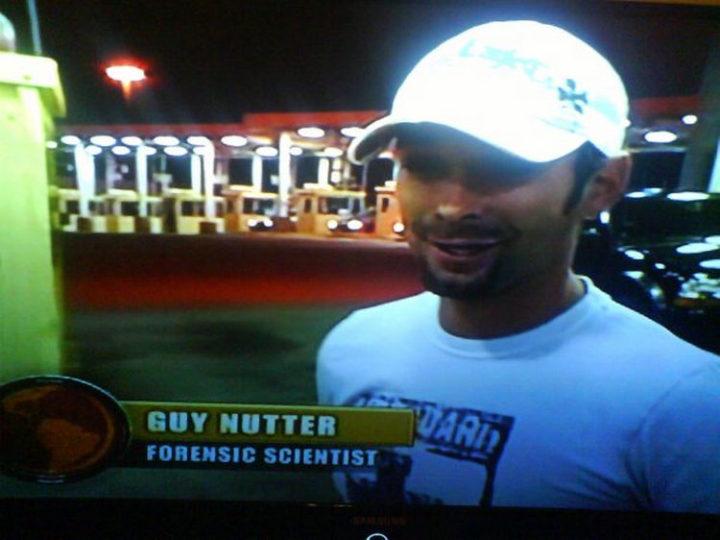 Funny Names - Guy Nutter.
