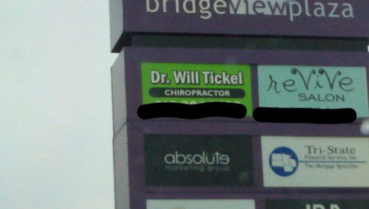 Funny Names - Dr. Will Tickel.
