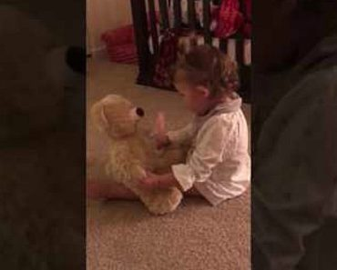 Daddy Is Deployed and Daughter Receives Bear With His Recorded Voice.
