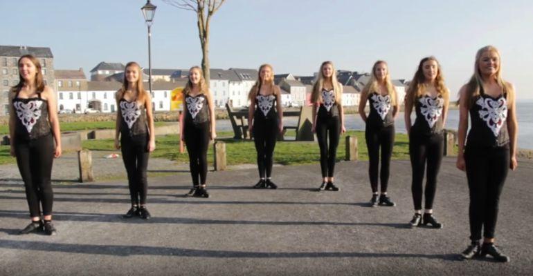 Irish Dancers Step Dance to Ed Sheeran's Hit Shape of You.
