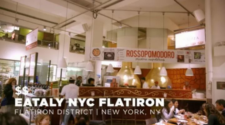 """Next up is the Rossopomodoro at the Eataly NYC Flatiron. This restaurant is owned by chef extraordinaire Mario Batali and he prepares an authentic """"Marinara Pizza"""" at only $13."""