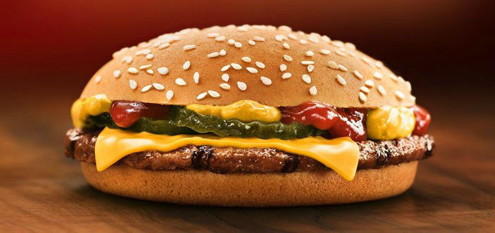 10 Fast Food Burgers With Less Fat and Calories Than a Caesar Salad - Burger King's Cheeseburger.