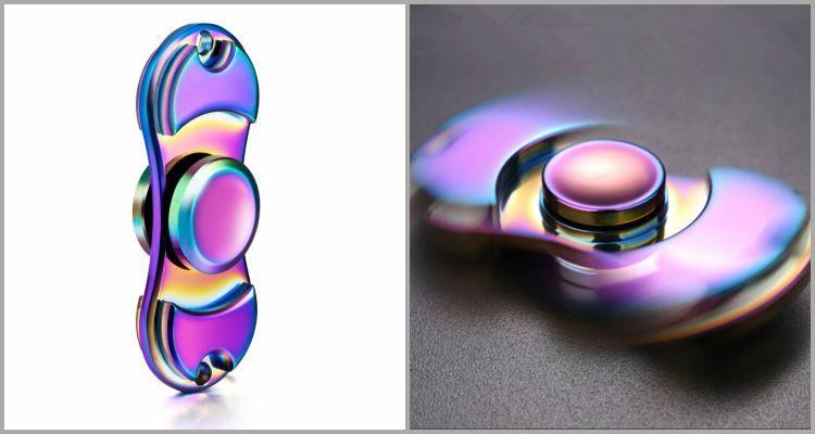 25 Best Widget Spinners - DSSY Metal Rainbow Color Hand Spinner.