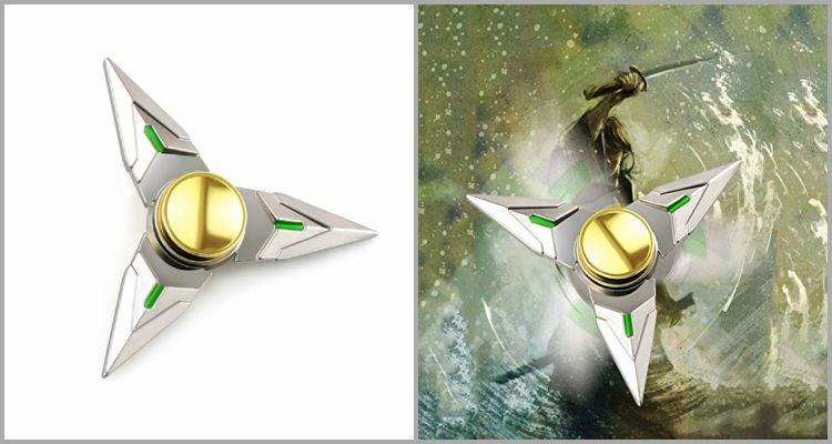 25 Best Fidget Spinners - OW Silver Genji Cosplay Hand Spinner .