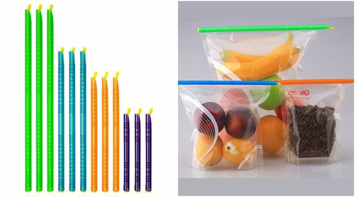 Kitchen Gadgets: Plastic Bag Sealer Clips Sticks.