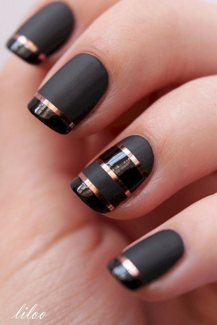 17 Chrome Nails - Mixing it up with chrome and matte nails.