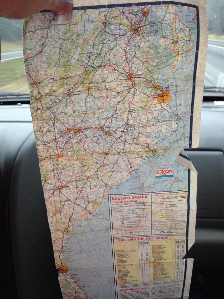 When you had to take out a map to get to your destination.