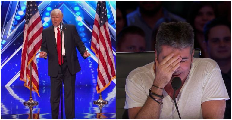 Singing Donald Trump Impersonator at America's Got Talent 2017.