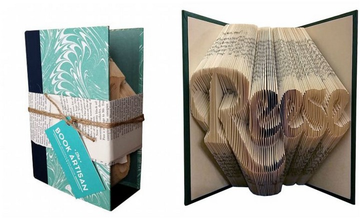13 Handmade Gifts from Etsy - Custom Folded Book Art.