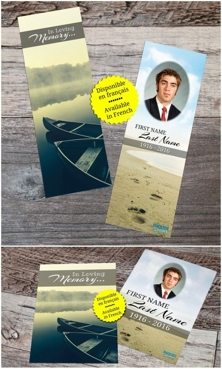 13 Handmade Gifts from Etsy - Personalized Memorial Bookmarks.