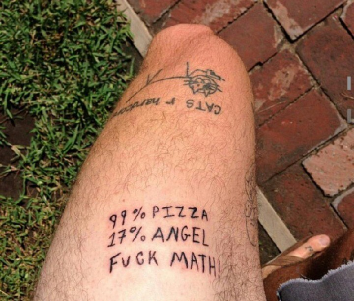 25 Funny Tattoo Fails - Math is important. Stay in school!