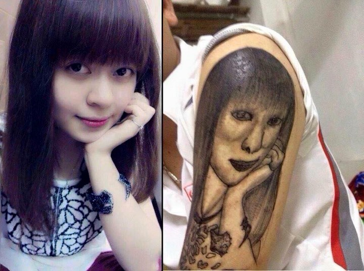 "25 Funny Tattoo Fails - ""It's like looking in the mirror,"" he said sarcastically."