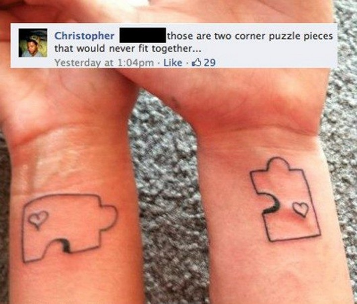 25 Funny Tattoo Fails - They deserve each other.