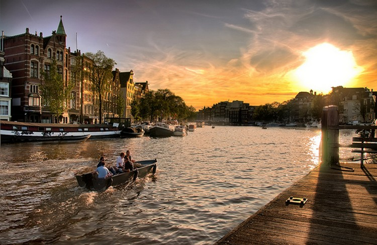 27 Beautiful Sunsets - The Canals in Amsterdam.