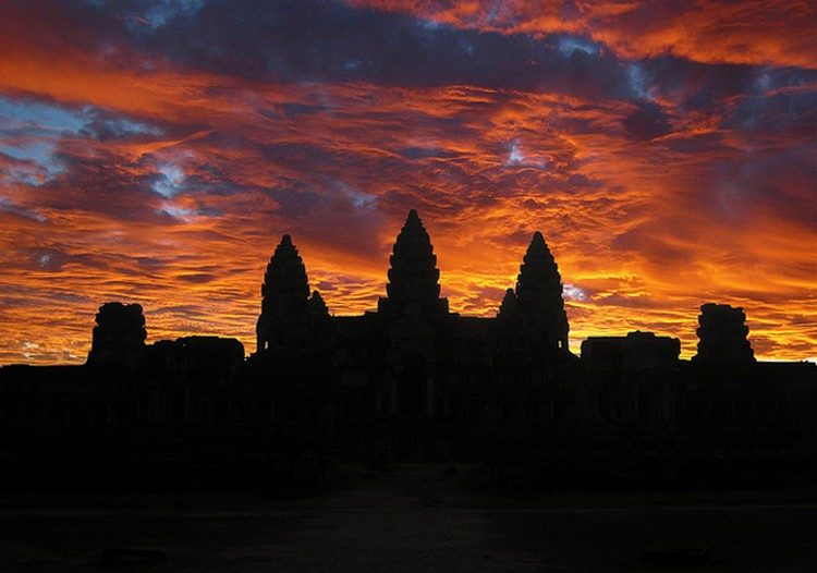 27 Beautiful Sunsets - Angkor Wat, Cambodia.