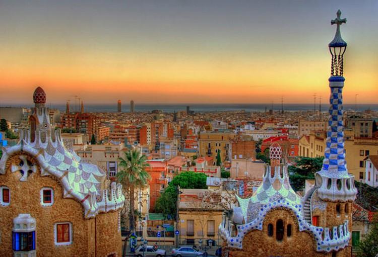 27 Beautiful Sunsets - Barcelona, Spain.