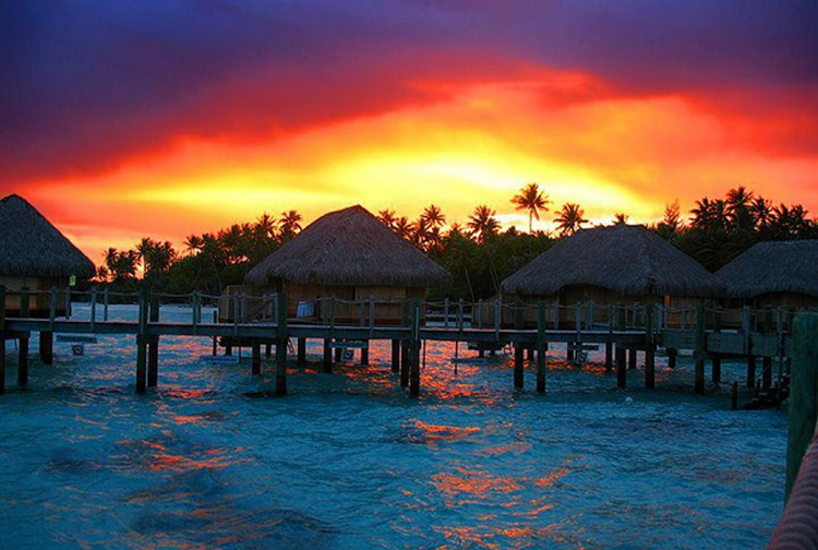 27 Beautiful Sunsets - Bora Bora, French Polynesia.