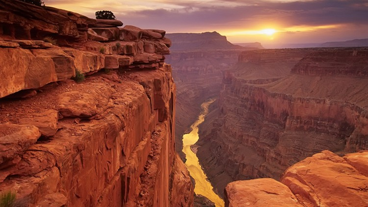 27 Beautiful Sunsets - Grand Canyon, Arizona, USA.