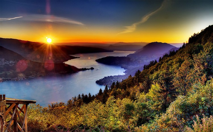 27 Beautiful Sunsets - Lake Annecy, French Alps.