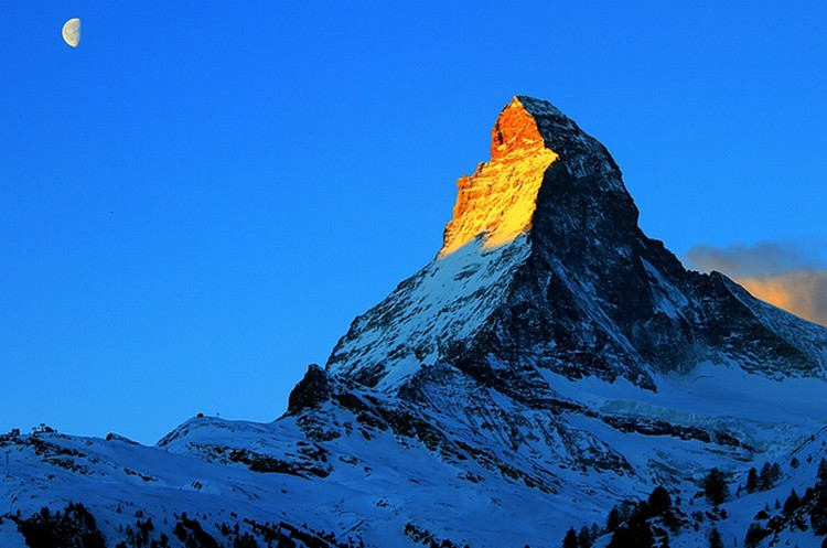 27 Beautiful Sunsets - The Matterhorn, Switzerland.