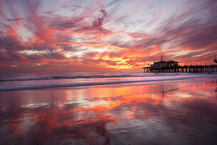 27 Beautiful Sunsets - Santa Monica Pier, California, USA.
