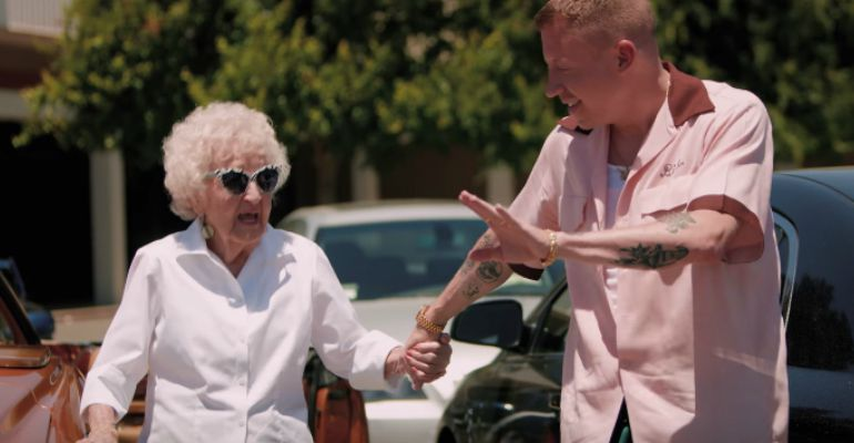 Macklemore Celebrates His Grandma's 100th Birthday with Glorious Video.