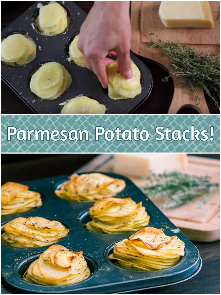 Parmesan Potato Stacks Recipe Makes an Excellent Side Dish.