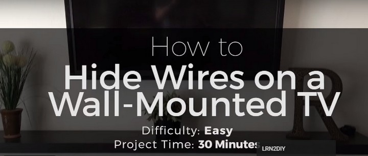11 Creative Ways to Hide TV Wires - Hide TV wires inside your walls for less than $15.