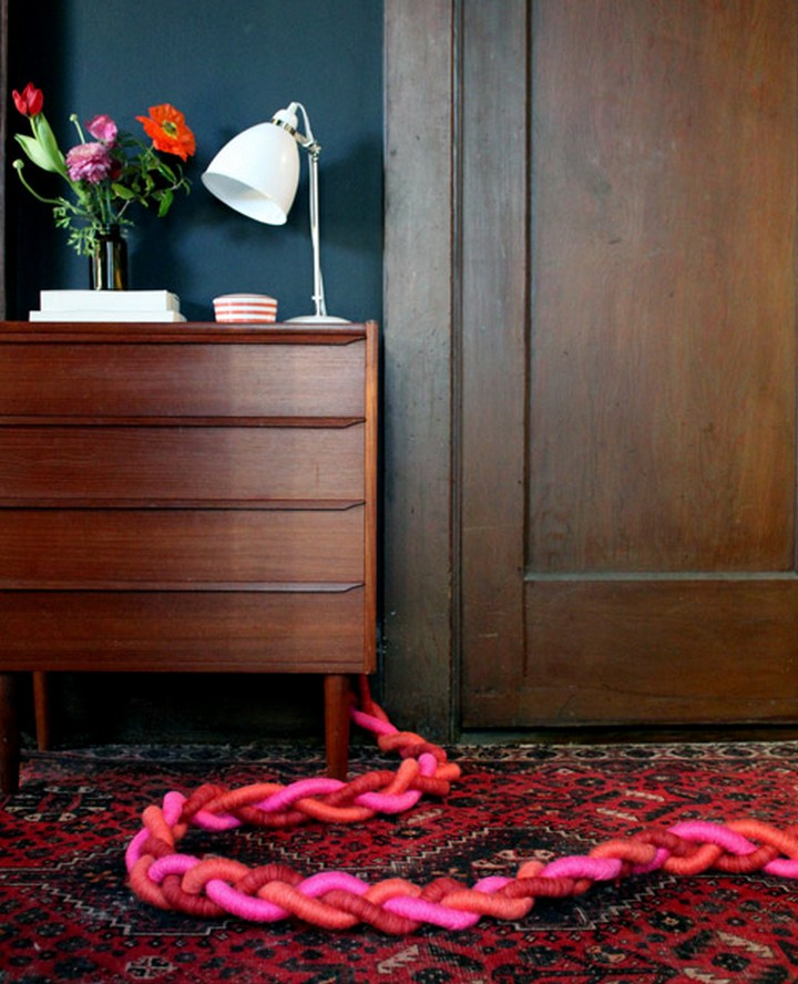 11 Creative Ways to Hide TV Wires - Turn unsightly extension cords intosculptural braided goodness.