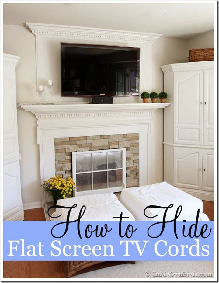 11 Creative Ways to Hide TV Wires - Hide TV wires by storing them in a DIY cloth sleeve.
