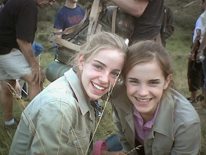19 Famous Actors and Their Stunt Doubles - Emma Watson.