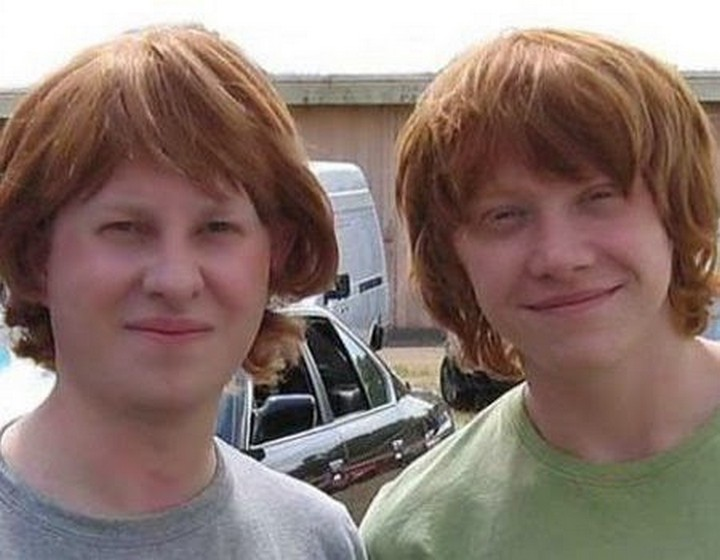 19 Famous Actors and Their Stunt Doubles - Rupert Grint.