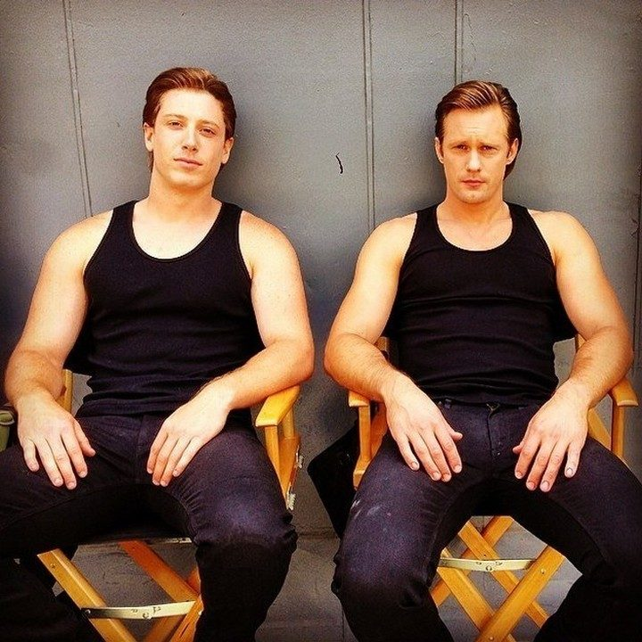 19 Famous Actors and Their Stunt Doubles - Alexander Skarsgard.