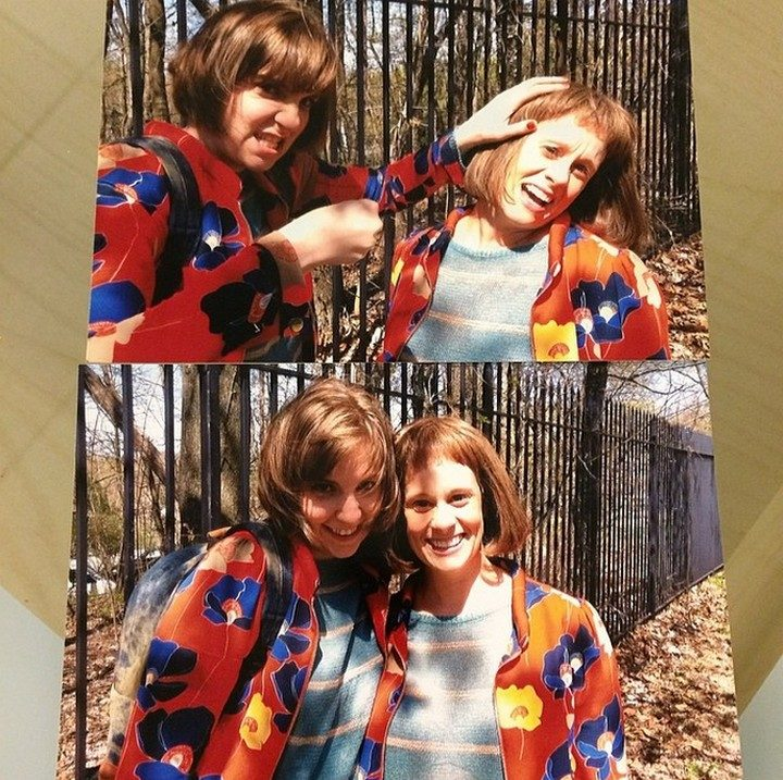 19 Famous Actors and Their Stunt Doubles - Lena Dunham.