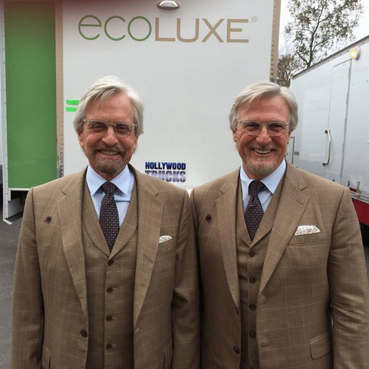 19 Famous Actors and Their Stunt Doubles - Michael Douglas.