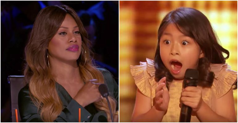Celine Tam Earns Golden Buzzer From Laverne Cox at AGT 2017.