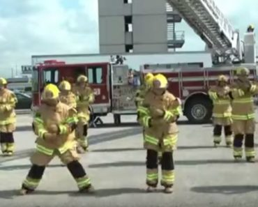 Firefighters Perform Hilarious Flash Mob Set to 'Stayin' Alive'. It's Hilarious and Educational!