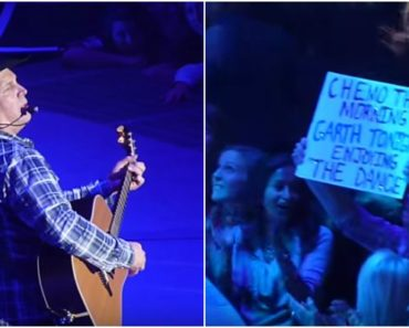 When Garth Brooks Saw a Cancer Patient Holding a Sign, He Did THIS! He Just Made Her Day!