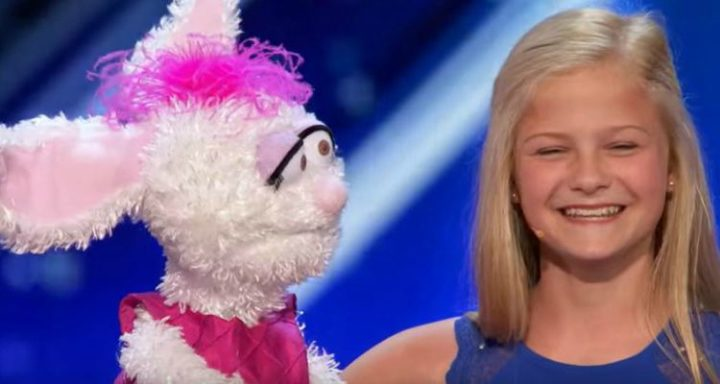 12-year-old ventroliquist Darci Lynne performs 'Summertime' with 'Petunia' at America's Got Talent 2017.