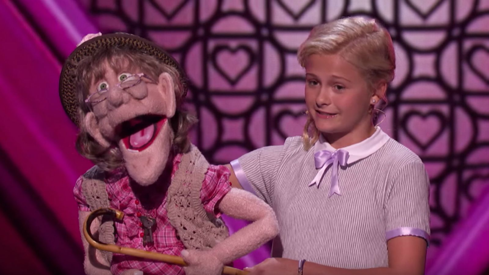 Watch young ventroliquist Darci Lynne Perform Aretha Franklin's '(You Make Me Feel Like) A Natural Woman' dedicated to Simon Cowell!