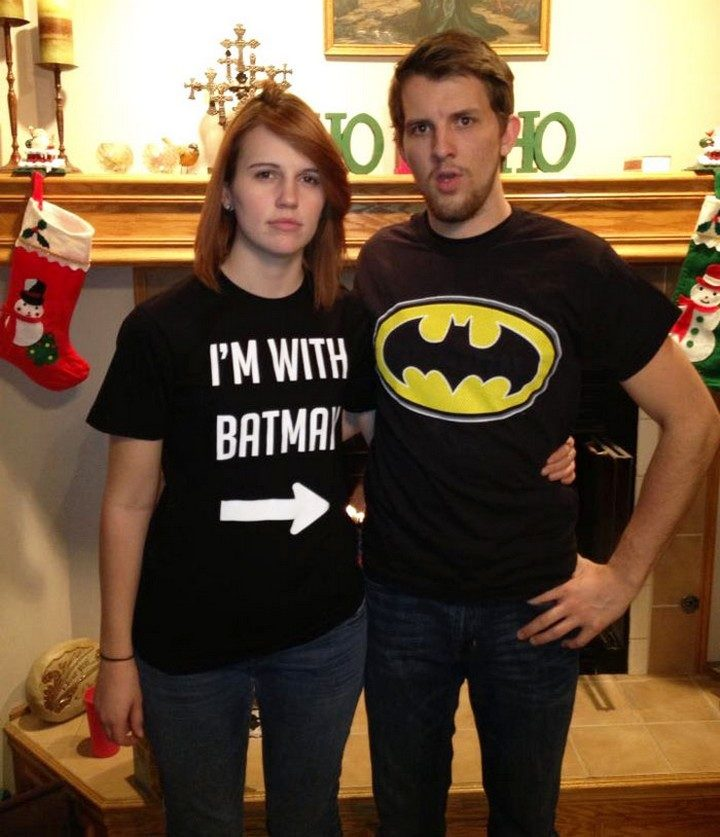17 Couples T-Shirts - I'm with Batman!