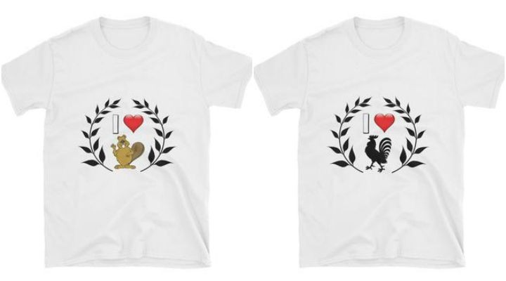 17 Couples T-Shirts - I love beavers and roosters.