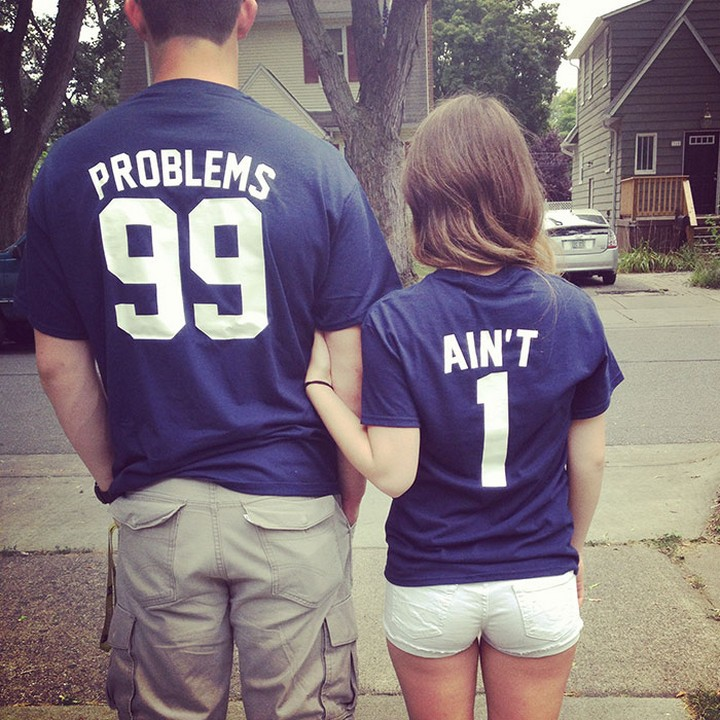 "17 Couples T-Shirts - ""I've got 99 problems but my wife ain't one."""