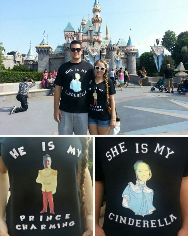 17 Couples T-Shirts - Likewise, Cinderella and her Prince Charming.
