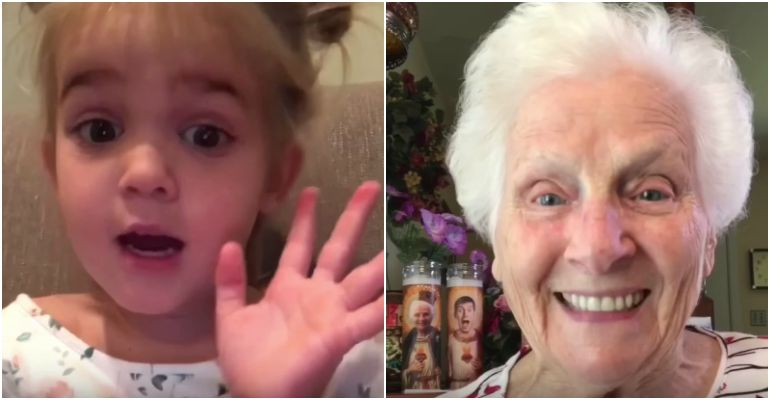 2-Year-Old Mila Gets Relationship Advice from Grandma.