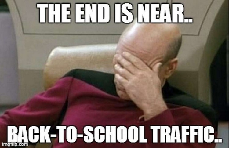 49 Funny School Memes - School buses. School buses everywhere.