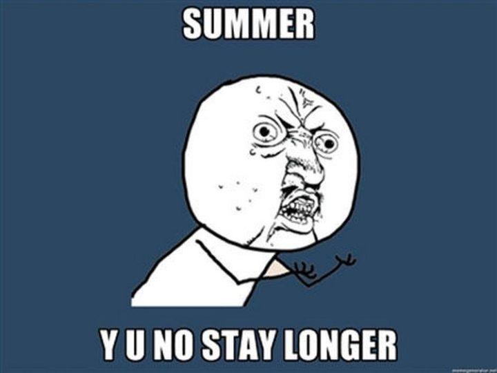 """""""Summer Y U no stay longer."""""""