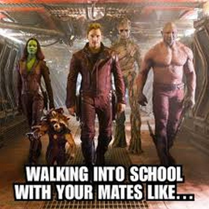 """""""Walking into school with your mates like..."""""""