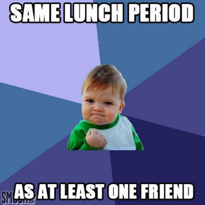 """""""Same lunch period as at least one friend."""""""
