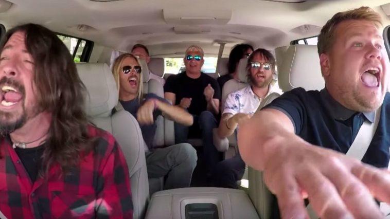 Foo Fighters Jam Together with James Corden on Carpool Karaoke.
